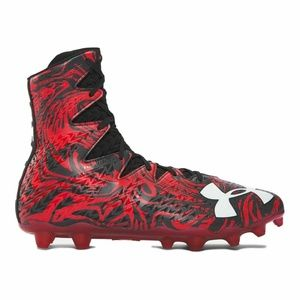 Under Armour Red Black Football 1297953 061 Sz 12